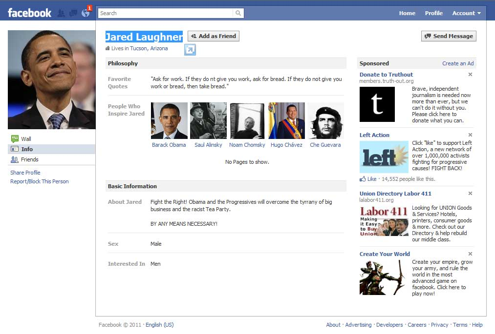 mock facebook pages